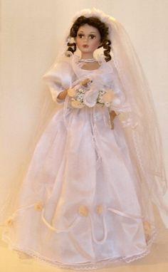 porcelain bride dolls | Bride Porcelain Doll-Beautiful Porcelain Bride Doll-unique Doll-chris