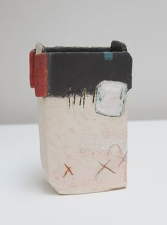Dark Edge - Craig makes slab built vessel forms that essentially act as 3D canvasses for him to explore the apparently infinite possibilities for mark making that can be achieved with a clay surface and ceramic materials.
