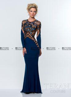 Vestido+de+Festa+Longo+com+Bordados+e+Illusion+Terani+151E0307A+:+Dstore,+As+Melhores+Grifes+dos+EUA+-+Site+Oficial
