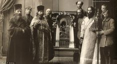 A group of priests pose for Dmitriev