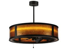 """36.5 Inch W Smythe Craftsman Amber Mica Led Chandel-air. 36.5 Inch W Smythe Craftsman Amber Mica Led Chandel-airA fan-tastic and energy efficient decorating idea for a home, retailer or hospitality location, this Meyda """"Chandel-Air"""" combines a ceiling fan with a handsome Amber mica diffuser. A famed Smythe Craftsman design, hand finished in Oil Rubbed Bronze, is featured on the outside of this stunning pendant/fan fixture. This unique design is the first Chandel-Air engineered with LEDs…"""