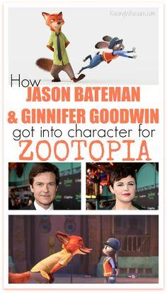 How Jason Bateman & Ginnifer Goodwin Got Into Character For Zootopia
