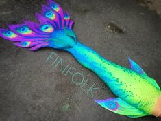 We absolutely LOVED creating this. People are always asking when we'd do a peacock inspired mermaid tail, and we finally have! Comment below if you love iT Realistic Mermaid Tails, Mermaid Tails For Kids, Mermaid Fin, Mermaid Tale, The Little Mermaid, Fantasy Mermaids, Mermaids And Mermen, Art Vampire, Vampire Knight
