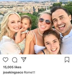 Candice King with her family on July 2018 in Rome, Italy. Ian And Nina, Candice King, Candice Accola, Caroline Forbes, Damon Salvatore, Always And Forever, Vampire Diaries, Actors & Actresses, Celebs