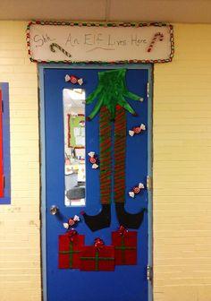 Christmas classroom decorations, Classroom decorated door
