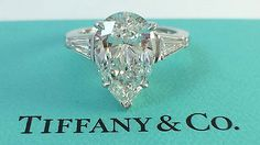 Tiffany & Co. 4.4 ct Platinum Pear Diamond Engagement Ring E/VVS1 Rtl. $275k