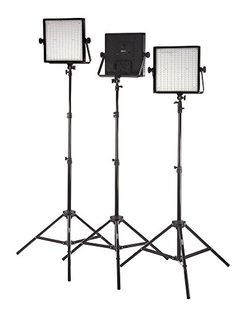 StudioPRO Set of 3 S600B Dimmable 600 LED Photography Lighting Panel and Light Stand Kit  Continuous 3200K5600K Bi Color LED  Photo Video  Film Studio Lighting Kit Barndoors are sold separately *** Read more details by clicking on the image. #NicePhotos