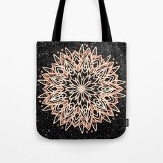 Metallic Mandala Tote Bag by beebeedeigner - tap and buy right now! Mandala Design, Mandala Art, Black Marble Background, Go Shopping, Totes, Metallic, Reusable Tote Bags, Clothing, Gifts