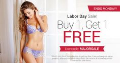 Sexy lingerie deals and discounts on bras, panties, swimwear and sleepwear.