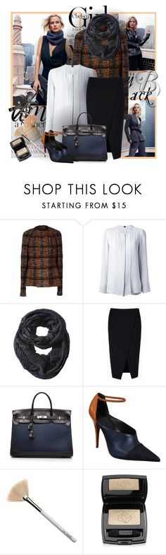 """""""№ 278"""" by olga3001 ❤ liked on Polyvore featuring Jil Sander, Theory, Mossimo Supply Co., STELLA McCARTNEY, Hermès, Narciso Rodriguez, Benefit and Lancôme"""