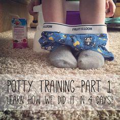 Potty Training Adventure // Part 1 // #pottytraining #boys