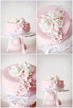 Pink birthday cake by Call me cupcake, via Flickr