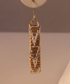 Handmade Basketweave 14K Rolled Gold and Argentuim by laclassique