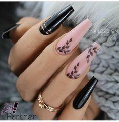 Elegant Nails, Classy Nails, Stylish Nails, Classy Nail Designs, Beautiful Nail Designs, Latest Nail Designs, Latest Nail Art, Black Nail Designs, Fancy Nail Art
