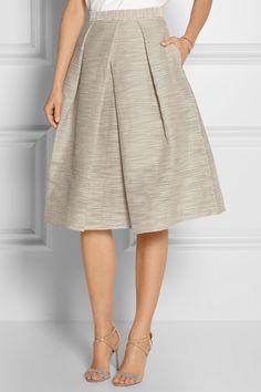 Tibi|Embroidered organza midi skirt|NET-A-PORTER.COM