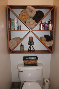 My awesome husband made this so I could store more bath items.