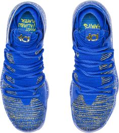 8c243ede0ad9 Buy Shoes Low Price · Luxury blue gold! This pair of finals color KD 10  details are too rich Curry