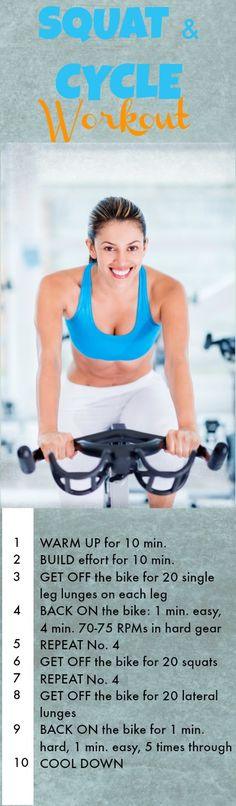 Cycling Workout: Spin and Squat | Fit Bottomed Girls