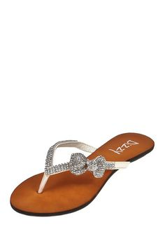Embellished Bow Sandal