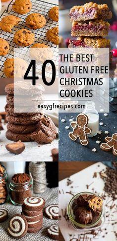 'Tis the season for 40 of the best gluten free Christmas cookies! - 'Tis the season for 40 of the best gluten free Christmas cookies! You can't do the holidays ri - Gluten Free Sweets, Gluten Free Cookies, Gluten Free Baking, Gluten Free Recipes, Gf Recipes, Potluck Recipes, Indian Recipes, Pumpkin Recipes, Recipes Dinner