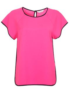 Pink Contrast Tee from Miss Selfridge
