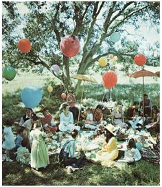 Picnic vintage 1970s image from House and Garden magazine