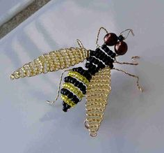"""BEADED INSECT BOOK  """"Bead N' Bugs"""" by Verona Rachelle Thom"""