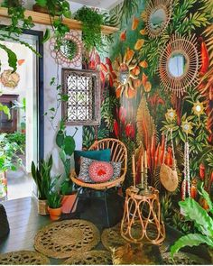 Bohemian House, Bohemian Living, Bohemian Decor, Deco Boheme Chic, Living Room Decor, Bedroom Decor, Decoration Originale, Amazing Decor, Eclectic Decor