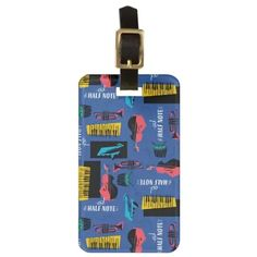 Soul | Jazz Instrument Pattern Luggage Tag Saxophone Instrument, Marching Band Shirts, Jazz Instruments, Piano Gifts, Music Teacher Gifts, Soul Jazz, Custom Luggage Tags, Standard Business Card Size, Card Sizes