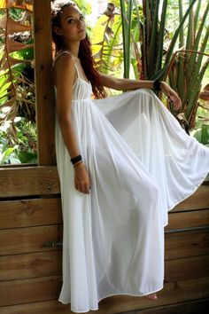 Grecian style nightgown