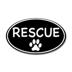 rescue oval bumper sticker