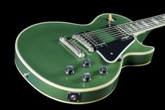 gibson - les paul custom. aged inverness green.