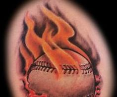 st. louis cardinals tattoo designs | ... baseball on fire baseball tattoos baseball baseball ball tattoos
