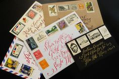 Tenn Hens Design...calligraphy and stamps...envelopes like a piece of art. Love it!