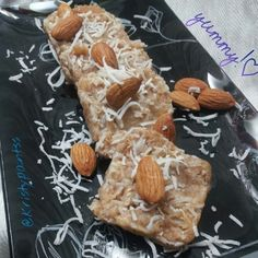 Ripped Recipes - Almond - Coconut Freezer Bars - An easy, healthy frozen treat to beat the heat.
