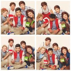 1D sitting around being entertained by boxes haha love them they can make anything look super hot!