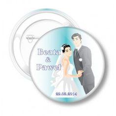 Przypinki Ślubne dla Młodej Pary Beaty i Pawła r 83
