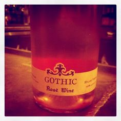 Gothic Rosé 2010 Pinot Noir, Gothic, Wine, Bottle, Drinks, Goth Subculture, Drinking, Beverages, Flask