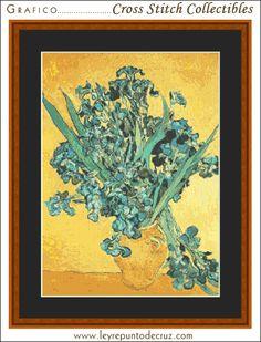 Iris, Amsterdam - Van Gogh by Cross Stitch Collectibles at Leyreideas.com