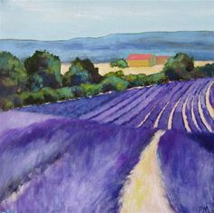 """Lavender Fields Forever"" - Original Fine Art for Sale - © Patricia MacDonald"