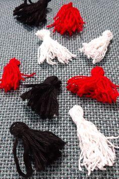 Anleitung Halloween Quasten - so bastelst du eine Quastenkette Tassel Necklace, Tassels, Jewelry, Cool Ideas, Cool Costumes, Fall Halloween, Nice Things, Jewlery, Jewerly