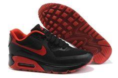 https://www.kengriffeyshoes.com/nike-air-max-90-hyperfuse-black-red-p-298.html Only$70.40 #NIKE AIR MAX 90 HYPERFUSE BLACK RED #Free #Shipping!