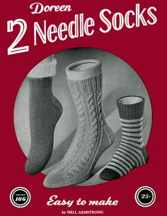Two Needle Socks | Volume 106 | Doreen Knitting Books