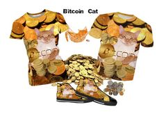 """""""Bitcoin Cat"""" by erikakaisersot ❤ liked on Polyvore"""