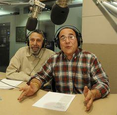 Tom, left, and Ray Magliozzi at WBUR (Richard Howard)