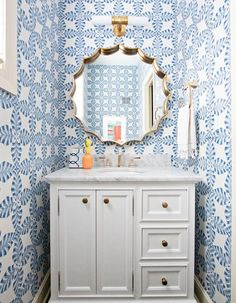 56 Stunning Powder Room Ideas You Are Sure to Love,modern powder room ideas,very small powder room ideas,small powder room ideas 2020
