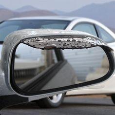 2ピースユニバーサル軟質pvc車アクセサリーバックミラーレインシェード防雨ブレードカーバックミラー眉毛レインカバー