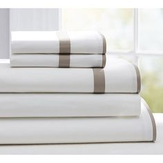Pottery Barn Morgan Bedding Set ($331) ❤ liked on Polyvore featuring home, bed & bath, bedding, bed sheets, queen bed sets, king pillowcases, king size bed sets, queen sheet sets and king fitted sheet