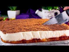 Nem tudsz leállni! Legfinomabb tejes krémes torta receptje. | Ízletes TV - YouTube Flan, Bolo Cake, No Cook Desserts, Kakao, Biscotti, Cheesecake, Cooking Recipes, Sweets, Make It Yourself
