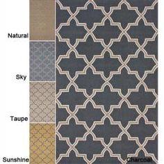 Handmade Alexa Moroccan Trellis Wool Rug (6' x 9')